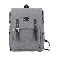 15.6 인치 초경량 휴대용 컴퓨터 배낭 한국어 스타일의 어깨 가방 방수 순수한 색상 남여