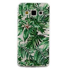 Samsung Galaxy a3 a5 (2017) burkolata zöld levelek minta csepp ragasztó lakk magas minőségű TPU anyag telefon esetében a3 a5