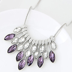 Women's Statement Necklaces Geometric Glass Alloy Euramerican Fashion Jewelry 1pc