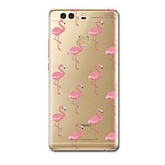 Voor Hoesje cover Ultradun Patroon Achterkantje hoesje Flamingo Zacht TPU voor HuaweiHuawei P10 Plus Huawei P10 Huawei P9 Huawei P9 Lite