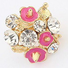 Anéis Grossos Anel GemaBásico Original Com Logotipo Floral Pérola Africa Estilo simples EUA Durável Formais Moda Clássico Vintage Elegant