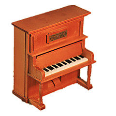 Caja de música Piano Decoración para Celebraciones Madera Unisex