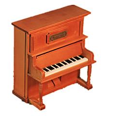 Müzik Kutusu Piano Tatil Malzemeleri Ahşap Unisex