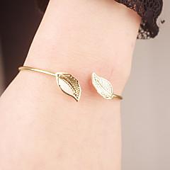 Γυναικεία Χειροπέδες Βραχιόλια Κοσμήματα Μοντέρνα Κράμα Leaf Shape Χρυσό Κοσμήματα Για Ειδική Περίσταση Αρραβώνας 1pc