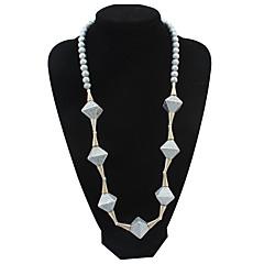 Damskie Łańcuszki na szyję Oświadczenie Naszyjniki Pasemka Naszyjniki Pearl imitacja Biżuteria Imitacja pereł Żywica StopKlasyczny