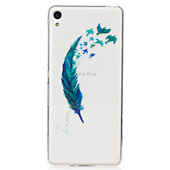 Για IMD Διαφανής Με σχέδια tok Πίσω Κάλυμμα tok Φτερό Μαλακή TPU για Sony Sony Xperia XA Sony Xperia M2