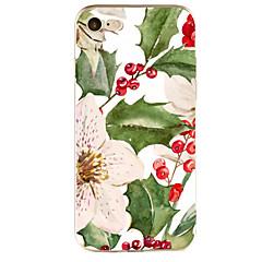 Pour Apple iphone 7 7 plus 6s 6 plus couverture de boîtier motif de fleurs peint haute pénétration tpu matériel étui souple boîtier de