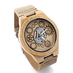 BOBO BIRD Men's Fashion Watch Wristwatch Unique Creative Cool Casual Genuine Leather Band Vintage Luxury Watches Wood Watch