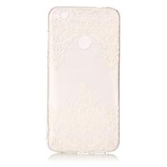 Voor huawei p8 lite (2017) p10 lite case cover kant print patroon hd beschilderd tpu materiaal imd proces telefoon hoesje p8 p9 lite p10
