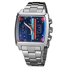 Αντρικά Μοναδικό Creative ρολόι μηχανικό ρολόι Ρολόι Καρπού Αυτόματο κούρδισμα Ημερολόγιο Ανοξείδωτο Ατσάλι Μπάντα Πολυτελές Ασημί Μαύρο