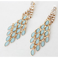 Drop Earrings Multi-stone Imitation Diamond Dangling Style Euramerican Fashion Zircon Gem Chrome Candy Pink Jewelry ForWedding Party