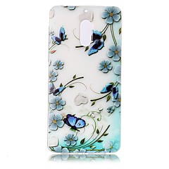 Voor Hoesje cover Transparant Reliëfopdruk Patroon Achterkantje hoesje Bloem Vlinder Zacht TPU voor Nokia Nokia 6
