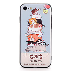Til Apple iPhone 7 7plus cover med stativ mønster bagcover case cat hard pc 6s plus 6 plus 6s 6