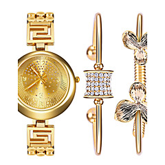 Women 's Watch and Bracelet Titanium Steel Bracelet Watch Set Ak Style Gold Ladies Watch Rhinestone Quartz Watch Montres Femme