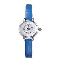Mulheres Relógio de Moda Quartzo Couro Banda Preta Branco Azul Marrom