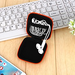 1Pcs   Headphones Earphone Cable Earbuds Storage Hard Case Carrying Pouch Bag Sd Card Hold Box Color Random