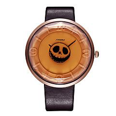 SINOBI Γυναικεία Μοδάτο Ρολόι Μοναδικό Creative ρολόι Ιαπωνικά Χαλαζίας Ανθεκτικό στο Νερό Ανθεκτικό στα Χτυπήματα PU ΜπάνταΚρανίο