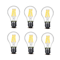 5.5W E27 LED-hehkulamput A60(A19) 8 COB 700 lm Lämmin valkoinen Koristeltu AC220 AC230 AC240 V 6 kpl