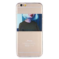 Pour Apple iphone 7 7plus housse de protection transparent pattern back cover case sexy lady soft tpu 6s plus 6 plus 6s 6