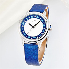 Women's Fashion Watch Quartz Leather Band White Blue Brown