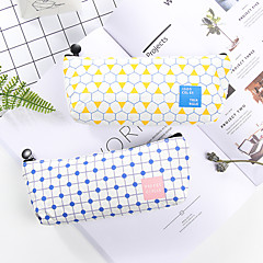 Pink Stripe Stationery Bag 1 PCS