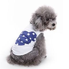 Cat Dog Shirt / T-Shirt Vest Dog Clothes Summer Cartoon Cute Fashion Casual/Daily