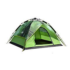 DesertFox® 3-4 személy Sátor Dupla kemping sátor Automatikus sátor Vízálló 2000-3000 mm mert Kemping CM Egy szoba Oxford