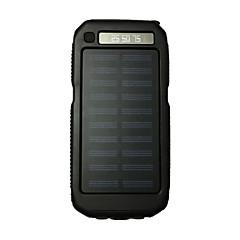 3led sos 8000mah lampe de poche 5v2a alimentation avec charge solaire pour téléphone mobile