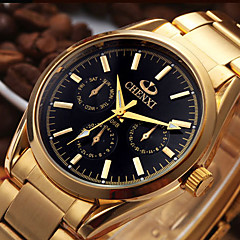 CHENXI® Men's Dress Watch Fashion Watch Japanese Quartz Calendar Stainless Steel Band Cool Casual Gold