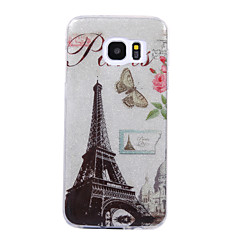 Voor Samsung Galaxy S8 S8 Plus Case Cove Tower Pattern Flash Poeder Imd Process TPU Materiaal Telefoon Hoesje S7 S6 Rand