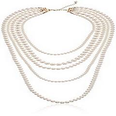 Női Rakott nyakláncok Sál nyakláncok Ékszerek Ékszerek Gyöngy Ötvözet Egyedi Divat Euramerican Ékszerek MertEsküvő Parti Különleges