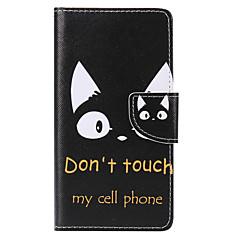 Taske til huawei p10 plus p10 lite kortholder pung med stativ flip mønster fuld krop kasse kat hårdt pu læder p10 p8 lite 2017 p9 lite