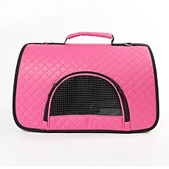 Kedi Köpek Taşıyıcı & Seyahat Sırt Çantaları Askılı Çanta Evcil Hayvanlar Taşıyıcı Taşınabilir Nefes Alabilir Tek RenkMor Fuşya