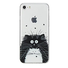 Voor Hoesje cover Patroon Achterkantje hoesje Kat dier Zacht TPU voor AppleiPhone 7 Plus iPhone 7 iPhone 6s Plus iPhone 6 Plus iPhone 6s