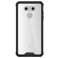 lg g6 burkolata magas penetráció akril hátlap TPU keret kombinált páncél telefon esetében