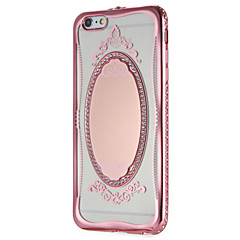 Käyttötarkoitus kotelot kuoret Peili Kuvio Takakuori Etui Lace Printing Kimmeltävä Pehmeä TPU varten AppleiPhone 7 Plus iPhone 7 iPhone
