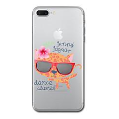 Til iphone 7 plus 7 tilfælde cover gennemsigtigt mønster bagside cover leopard print kat blødt tpu til iphone 6s plus 6s 6 plus 6 5s 5 se