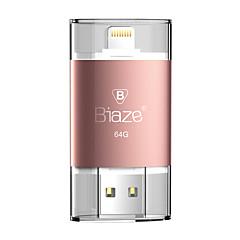 Biaze 64gb otg φλας δίσκο u δίσκο για ios παράθυρα για iphone ipad pc