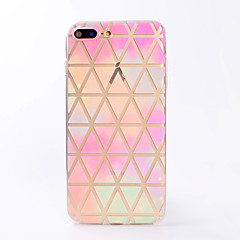 Til iphone 7 7 plus case cover gennemsigtigt mønster bagcover case geometrisk blødt tpu til iphone 6s 6 plus 6s 6 se 5s 5