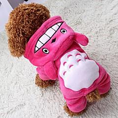 Kat Hund Frakker Hættetrøjer Jumpsuits Bukser Hundetøj Cosplay Hold Varm Halloween Dyr Grå Rose Brun