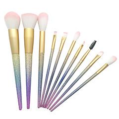 10pcs Fırça Setleri Allık Fırçası Far Fırçası Kaş Fırçası Eyeliner Fırçası Kapatıcı Fırçası Fondöten Fırçası Kontur Fırçası Sentetik Saç