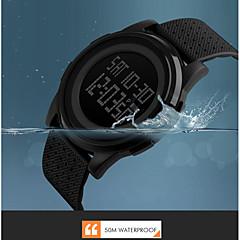 남성 아가씨들 스포츠 시계 드레스 시계 스마트 시계 패션 시계 손목 시계 독특한 창조적 인 시계 중국어 디지털 달력 크로노그래프 방수 듀얼 타임 존 스톱워치 야광 큰 다이얼 실리콘 밴드 참 멋진 우아한 멀티컬러