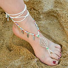 Kadın Ayak bileziği/Bilezikler alaşım Bohemia Stili Leaf Shape Mücevher Için Günlük 1pc