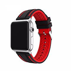 Horlogeband voor appelwatch serie 1 2 38mm 42mm klassieke gesp siliconen vervangende band