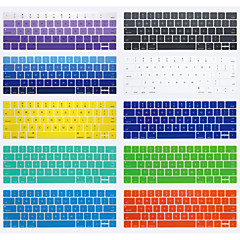 Silicone Keyboard Cover 147 13.3'' 15.4'' New MacBook Pro 13'' with Touch Bar New MacBook Pro 15'' with Touch Bar