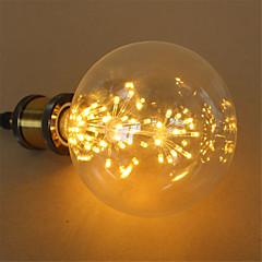 3W E27 LED-globlampor G125 48 Integrerad LED 250 LM Varmvit Dekorativ Dimbar AC 220-240 V 1 st