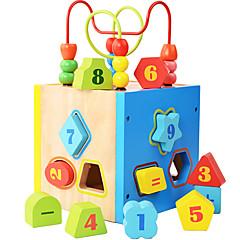 أحجار البناء لبيع الهدايا أحجار البناء ألعاب البناء و التركيب مربع خشب 2 ل 4 سنوات 5 ل 7 سنوات ألعاب