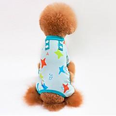 Kissa Koira T-paita College Haalarit Yöpuvut Pants Koiran vaatteet Rento/arki Tähdet Harmaa Sininen Pinkki