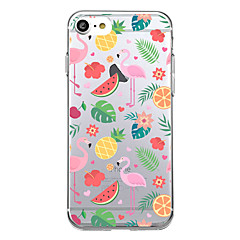 Til iphone 7 plus 7 tilfælde cover ultra tynde mønster bagside cover flamingo soft tpu til iphone 6s plus 6 plus 5s 5