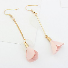 Korean Style Fashion Elegant Simple Flower  Leaves Long Earrings Women's Casual Drop Earrings Statement Jewelry